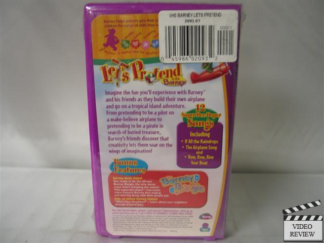 Lets Pretend with Barney VHS NEW Barney the Dinosaur on