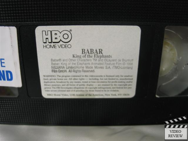 Babar King Of The Elephants Vhs With Activity Book