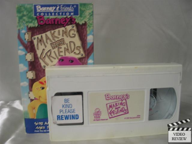 Barney making new friends vhs, what to get for your boyfriend to say