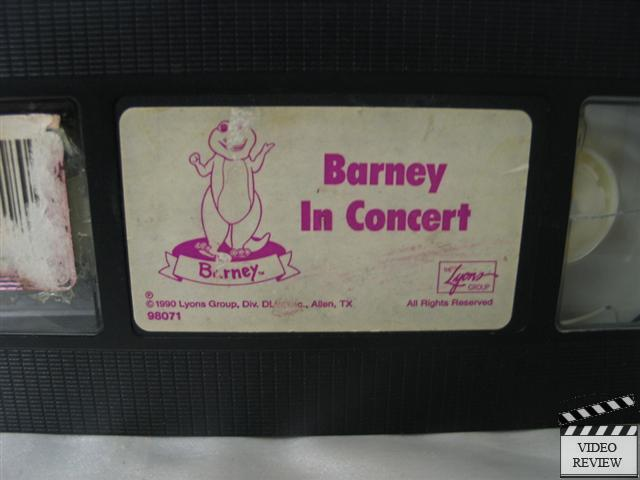 details about barney in concert vhs barney the dinosaur