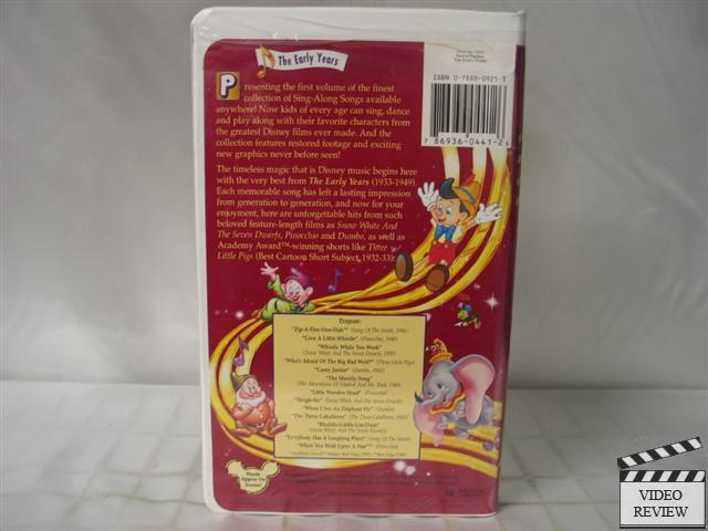 Related pictures disney sing along songs the early years vhs