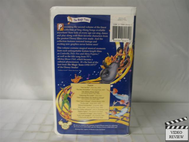 Disney Sing Along Songs The Magic Years VHS 786936044140 on