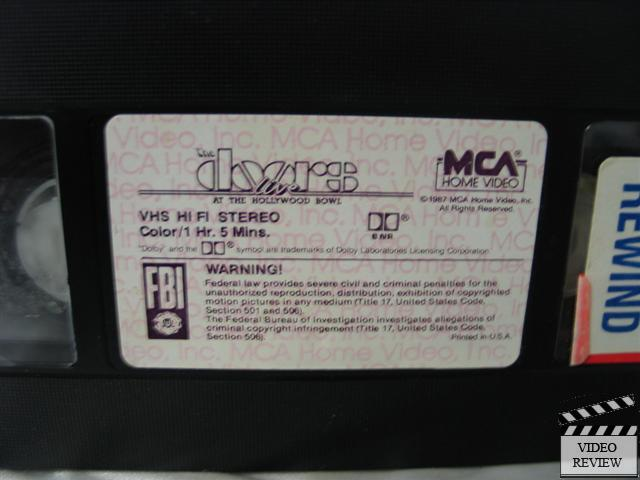 The Doors Live At The Hollywood Bowl Vhs Ebay