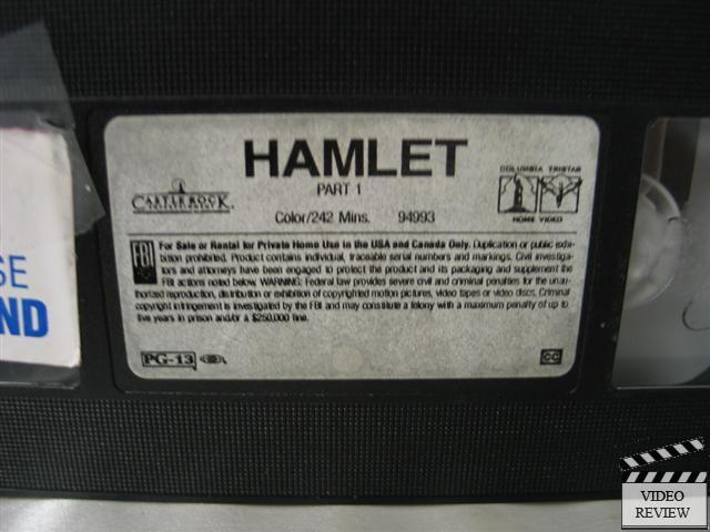 Hamlet Vhs 2 Tape Set Kenneth Branagh Julie Christie