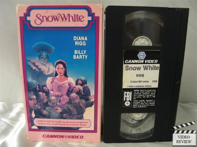 Snow White Vhs Diana Rigg Billy Barty Sarah Patterson