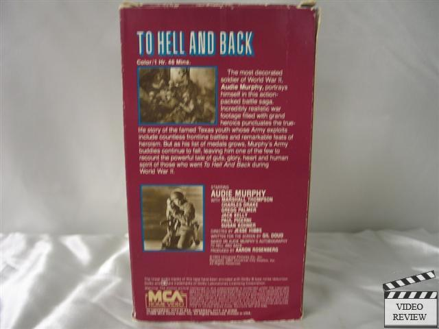 To Hell And Back Vhs Audie Murphy Marshall Thompson Ebay